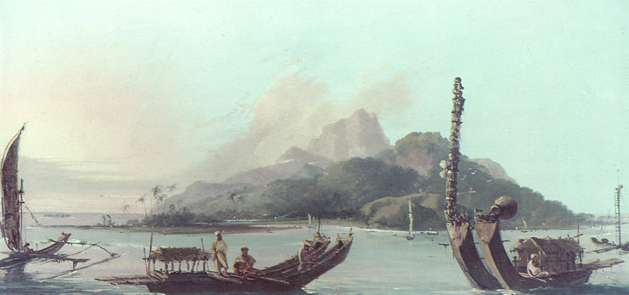 1773 Painting - Cook Tahiti, 1773 by Granger