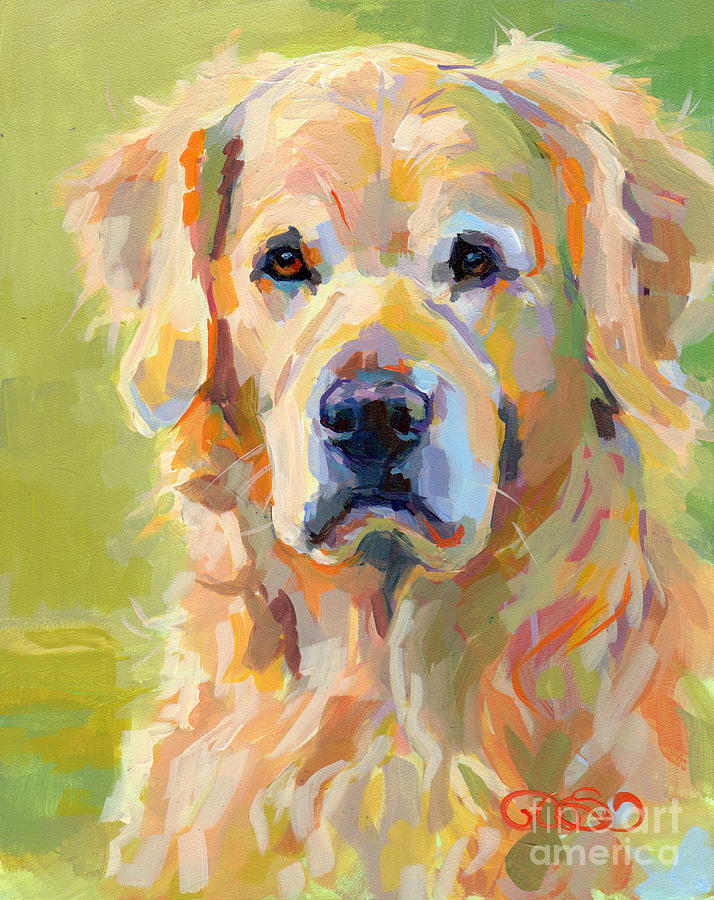 Pet Portrait Painting - Cooper by Kimberly Santini