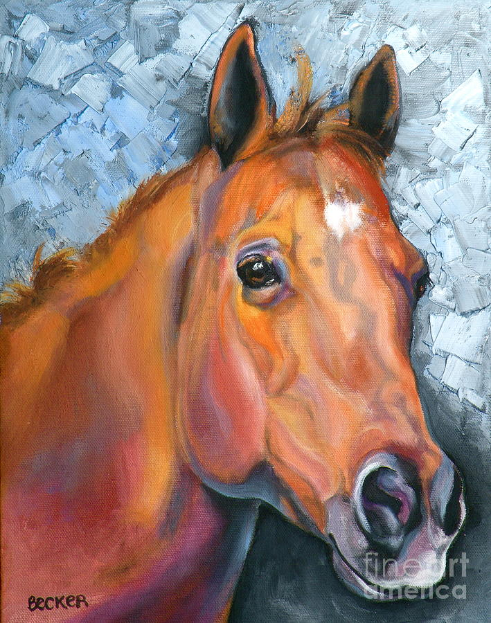Horse Painting - Copper Glow by Susan A Becker