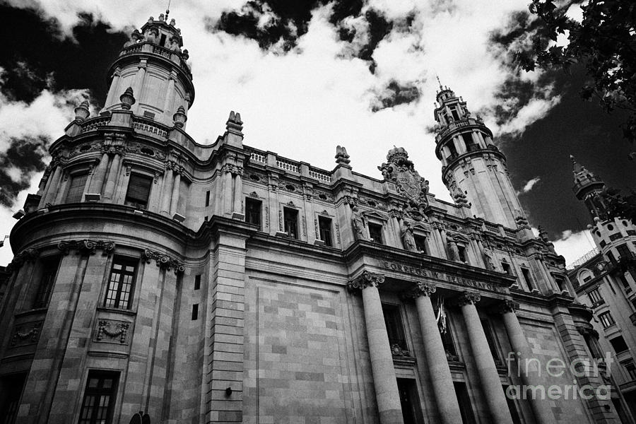 Correos Photograph - Correos Y Telegrafos Phone And Telegraph Central Post Office Building Barcelona Catalonia Spain by Joe Fox