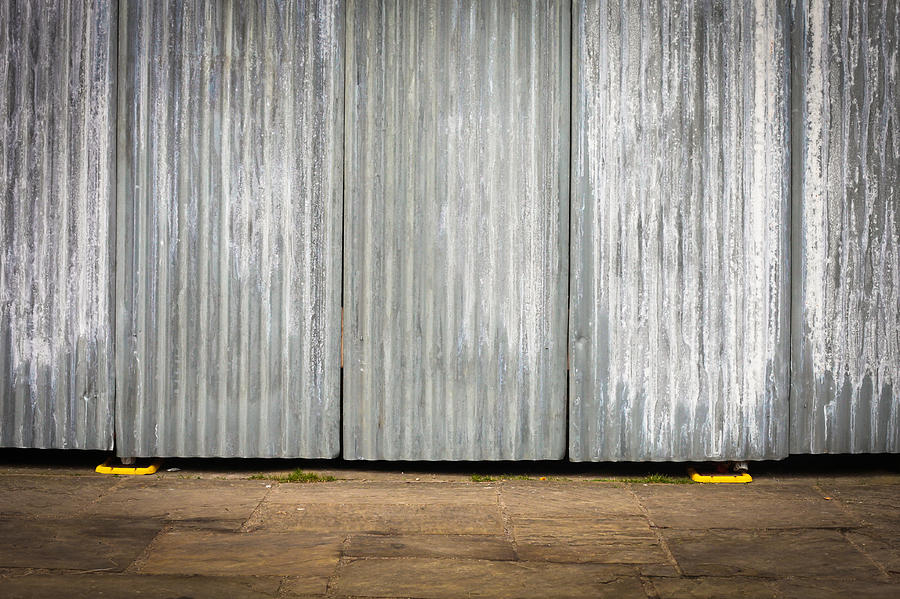Background Photograph - Corrugated Metal by Tom Gowanlock