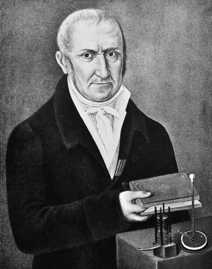 18th Century Painting - Count Alessandro Volta (1745-1827) by Granger