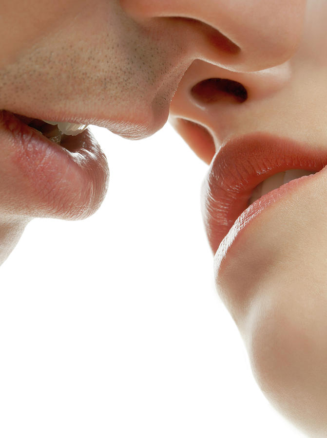 Human Photograph - Couple Kissing by Kate Jacobs/science Photo Library