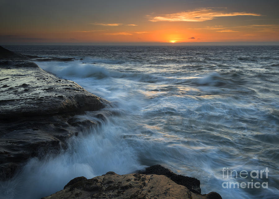 Cape Kiwanda Photograph - Covered By The Sea by Mike Dawson