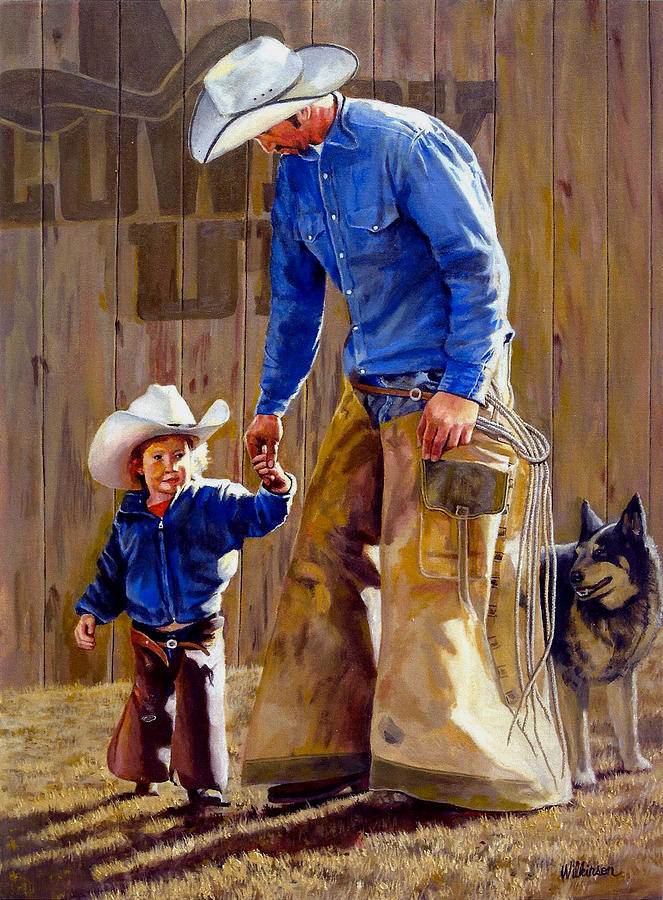 Cowboys Painting - Cowboy Up by Ronald Wilkinson