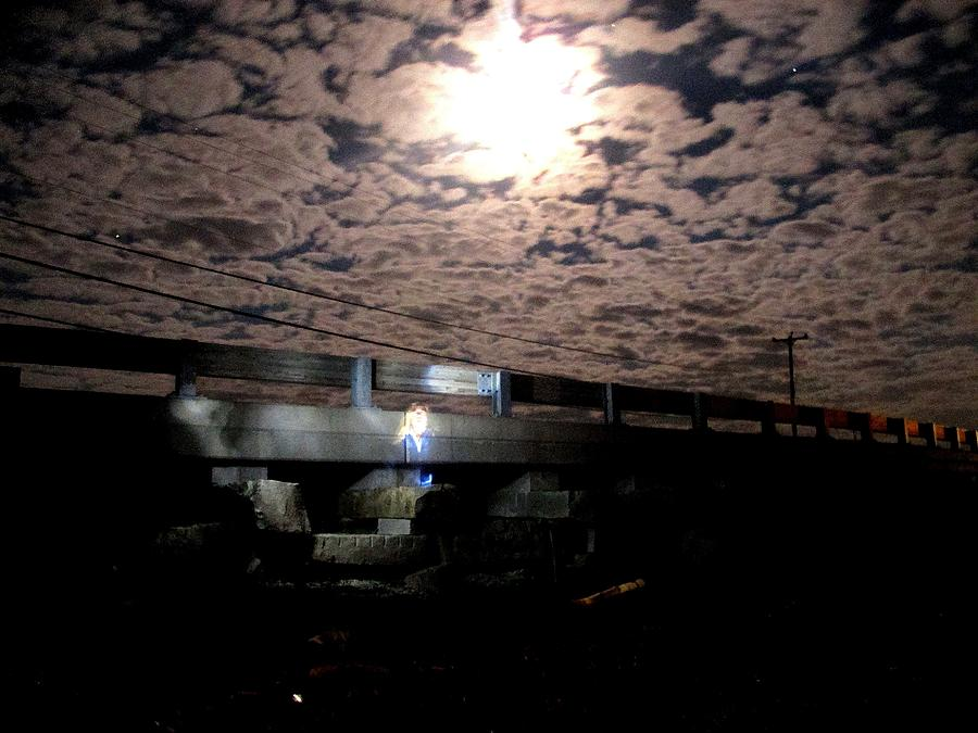 Cribstone Bridge At Night Photograph