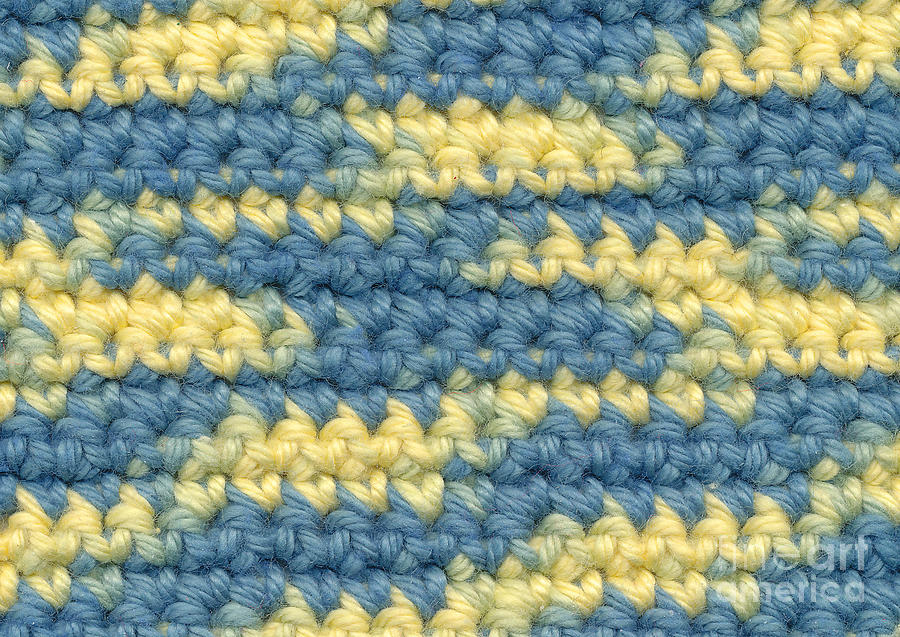Yarn Tapestry - Textile - Crochet Made With Variegated Yarn by Kerstin Ivarsson