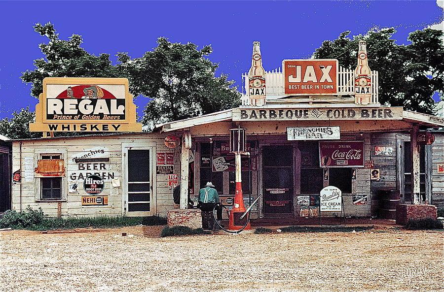 Crossroads Store Bar Juke Joint And Gas Station Fsa Marion Post Wolcott Melrose Louisiana Photograph by David Lee Guss