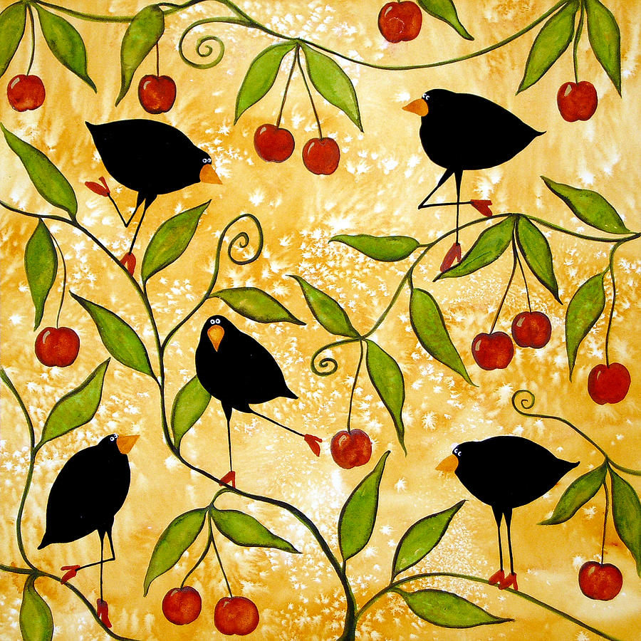Crow Bird Blackbird Raven Wildlife Animal Cherry Tree Italian ...