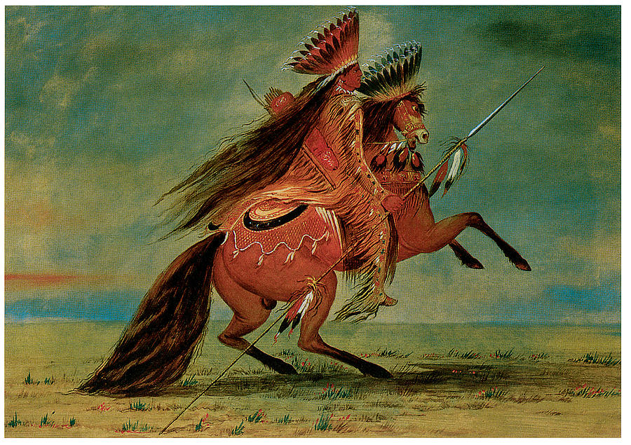 Crow Chief Painting by George Catlin