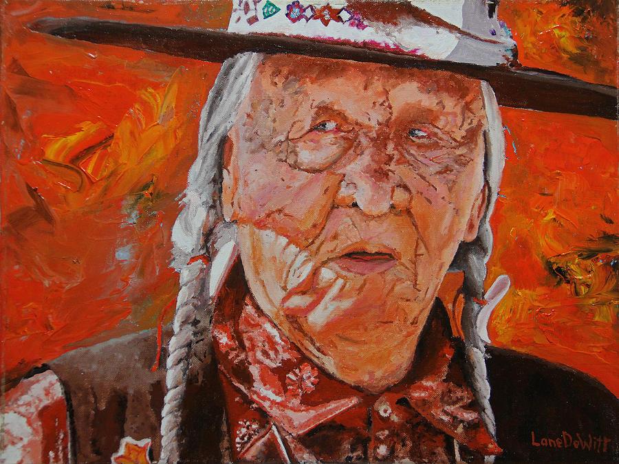 Crow Painting - Crow Elder by Lane DeWitt