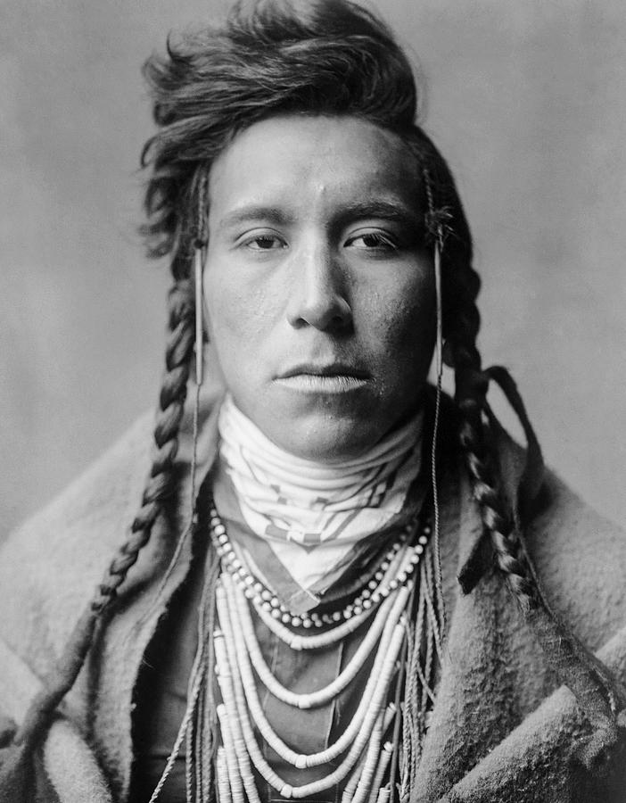 1908 Photograph - Crow Indian Man Circa 1908 by Aged Pixel
