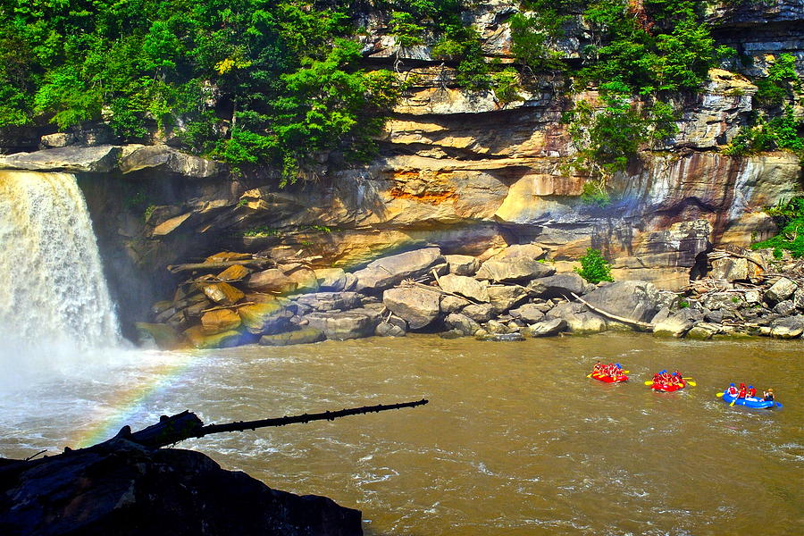 Rainbow Photograph - Cumberland Falls Rainbow by Frozen in Time Fine Art Photography