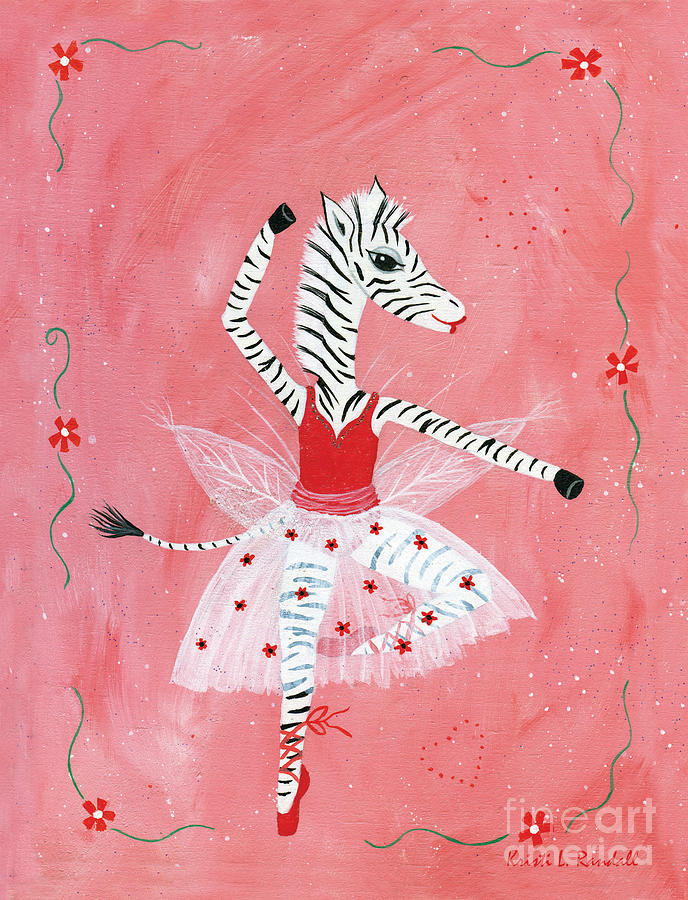 Original Painting - Custom Childs Zebra Ballerina by Kristi L Randall