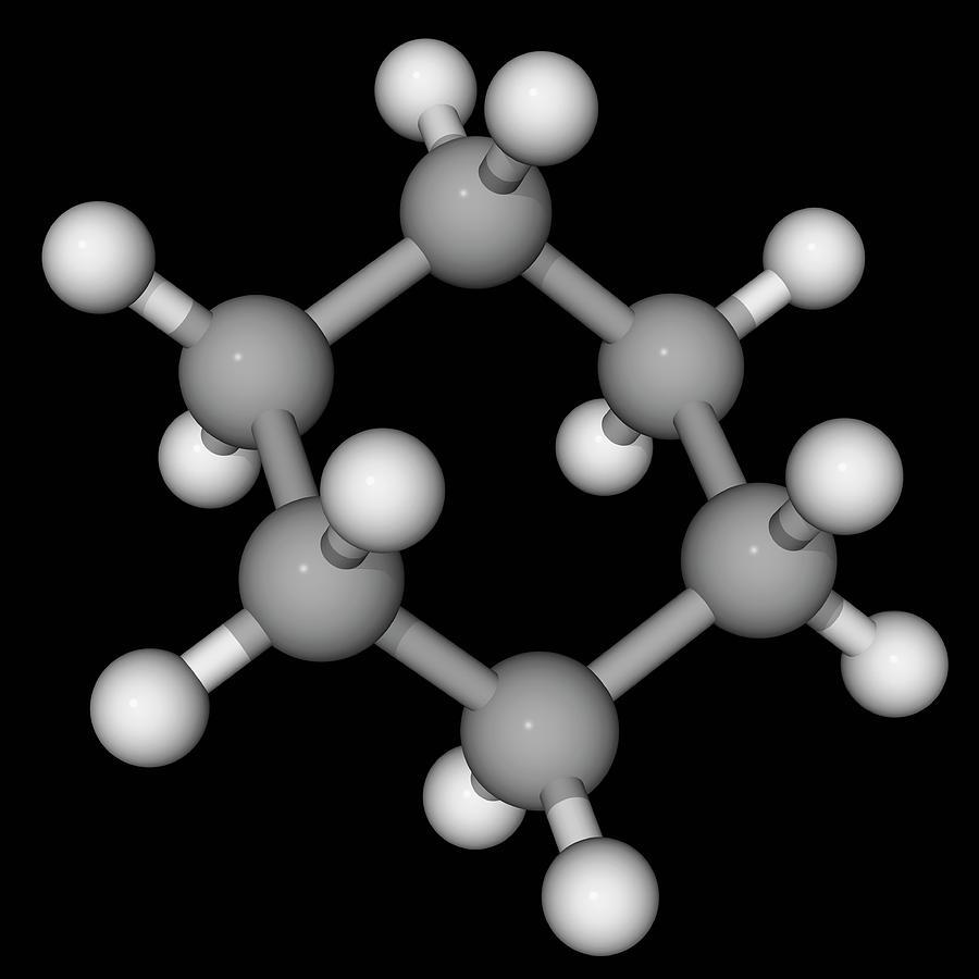 Artwork Photograph - Cyclohexane Molecule by Laguna Design/science Photo Library
