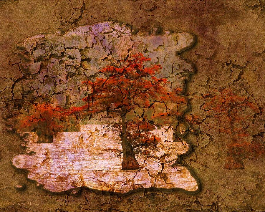 Walker Digital Art - Cypress - Abstract by J Larry Walker