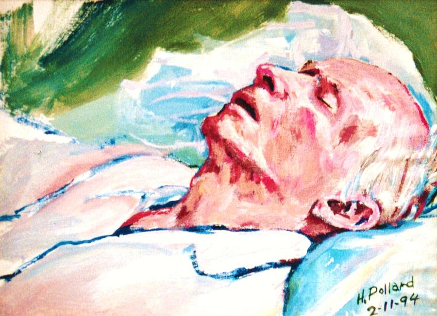 Father Painting - Dad Dying by Herschel Pollard