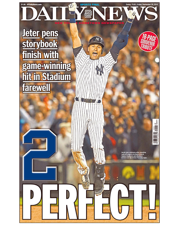 Daily News Front Page Wrap Derek Jeter 1 Photograph by New York Daily News