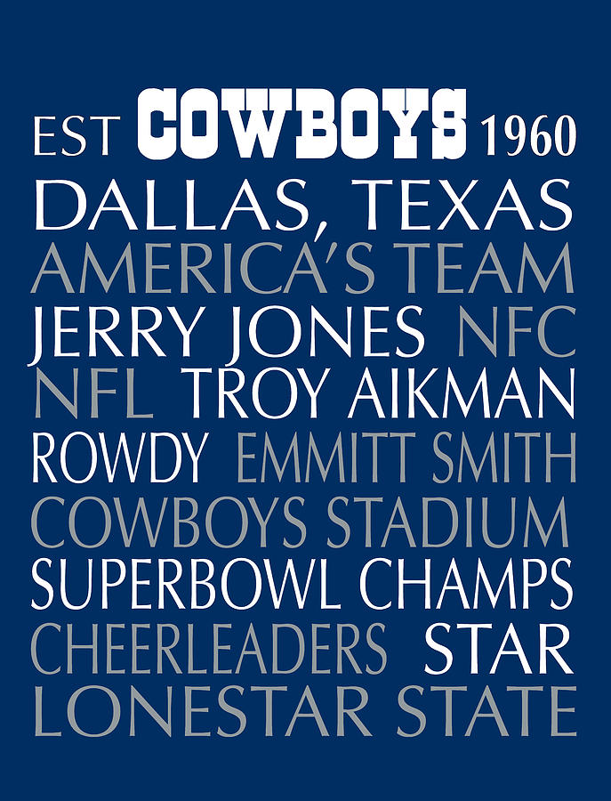 Dallas Digital Art   Dallas Cowboys By Jaime Friedman