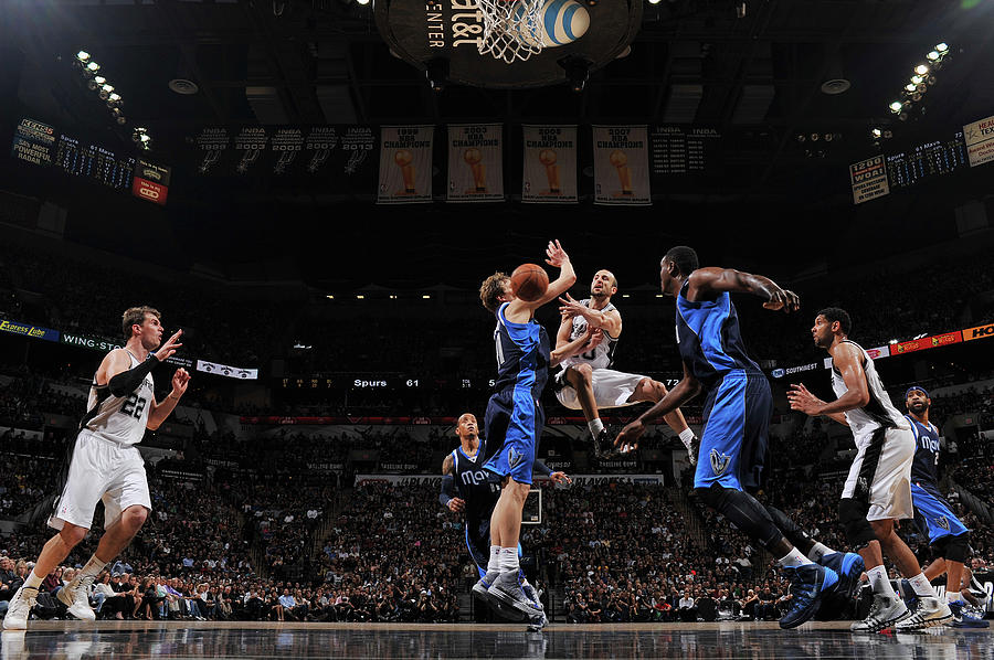 Dallas Mavericks V San Antonio Spurs - Photograph by Garrett Ellwood