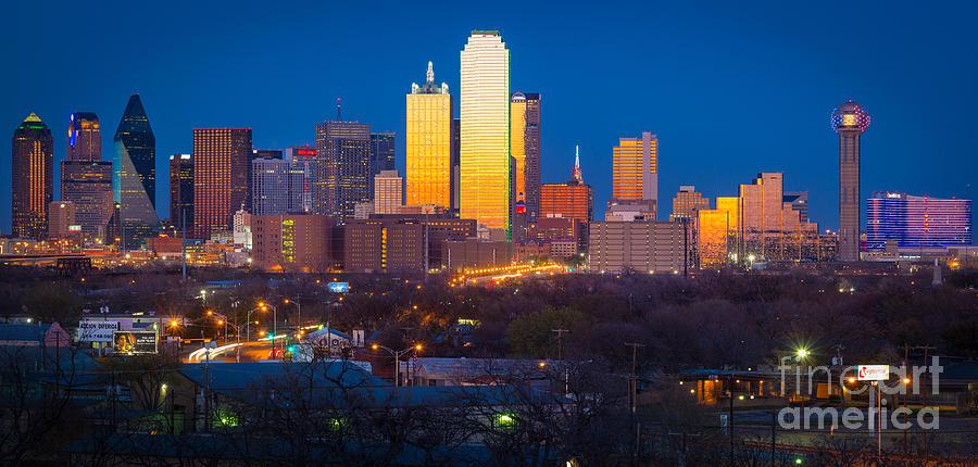 Dallas Photograph - Dallas Skyline by Inge Johnsson