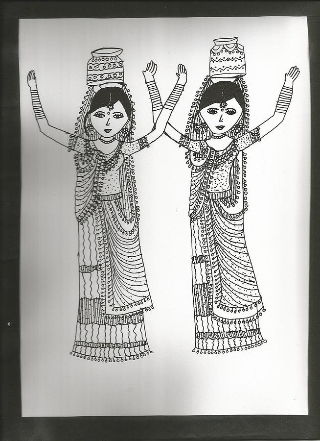 Dance Form Drawing by Shubhangi Bhardwaj
