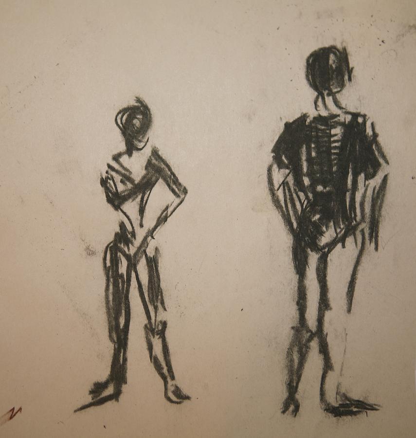 Dance Drawing - Dancing  by Elena Svobodina