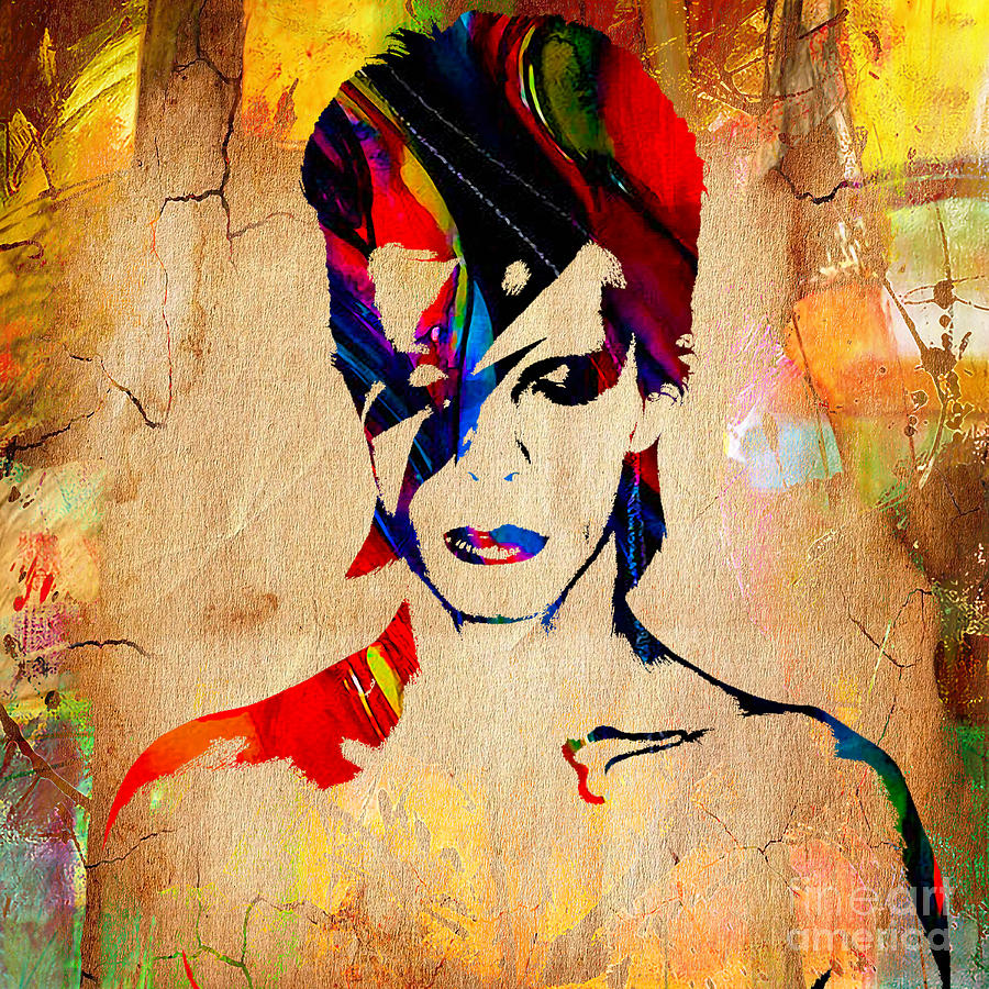 David Bowie Collection Mixed Media by Marvin Blaine