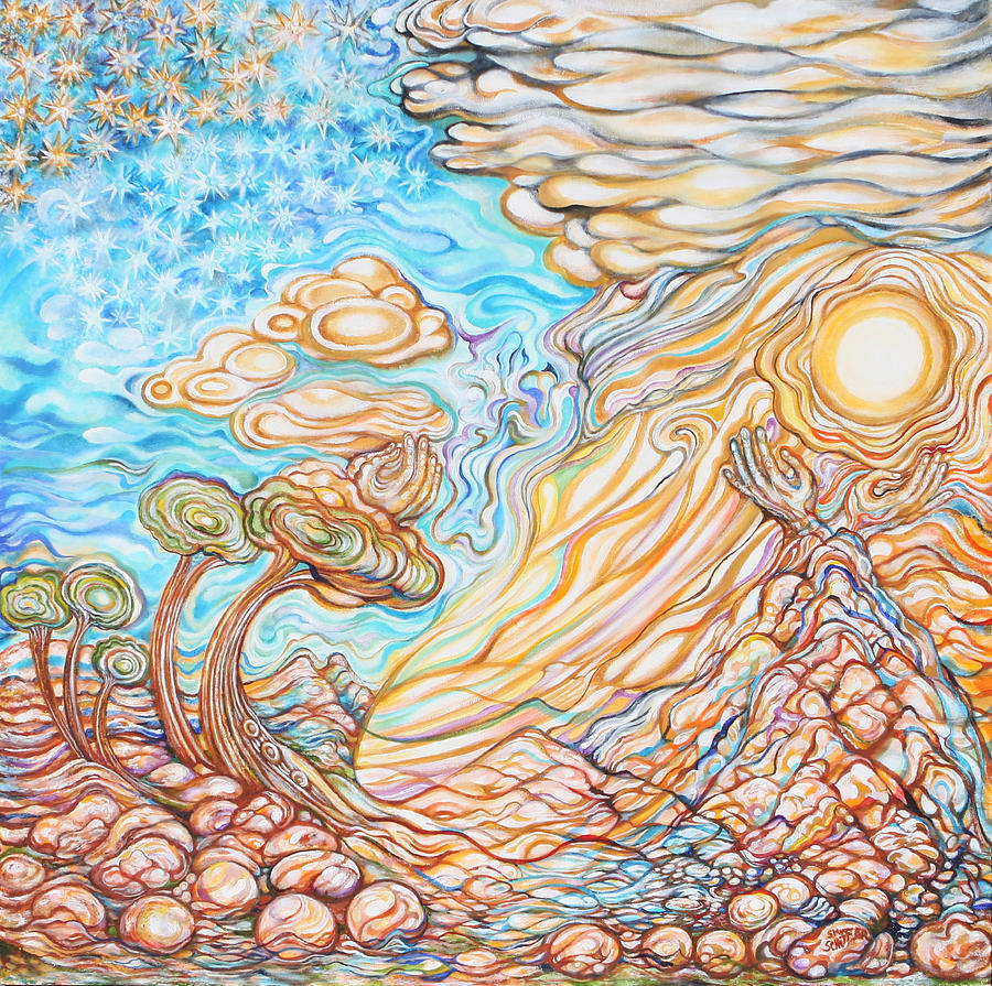 Holy Land Painting - Day Of The Soul by Susan Schiffer