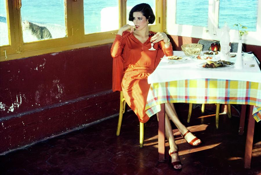 Dayle Haddon Wearing Missoni Photograph by Jacques Malignon