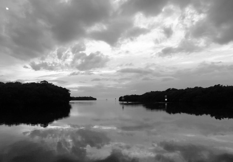 Seascape Photograph - Days End Bw by Norman Johnson