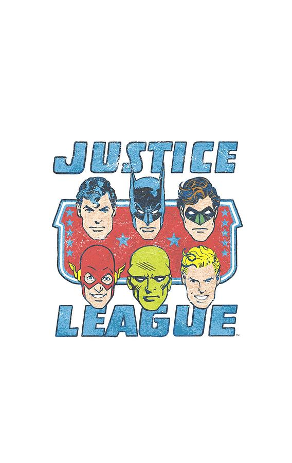 Justice League Digital Art - Dc - Faces Of Justice by Brand A