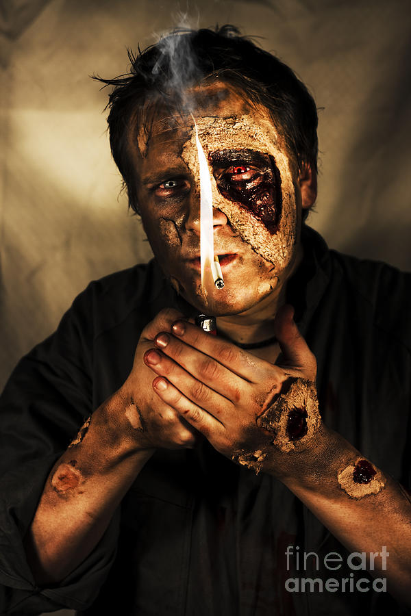 Apocalypse Photograph - Dead Man Smoking by Jorgo Photography - Wall Art Gallery