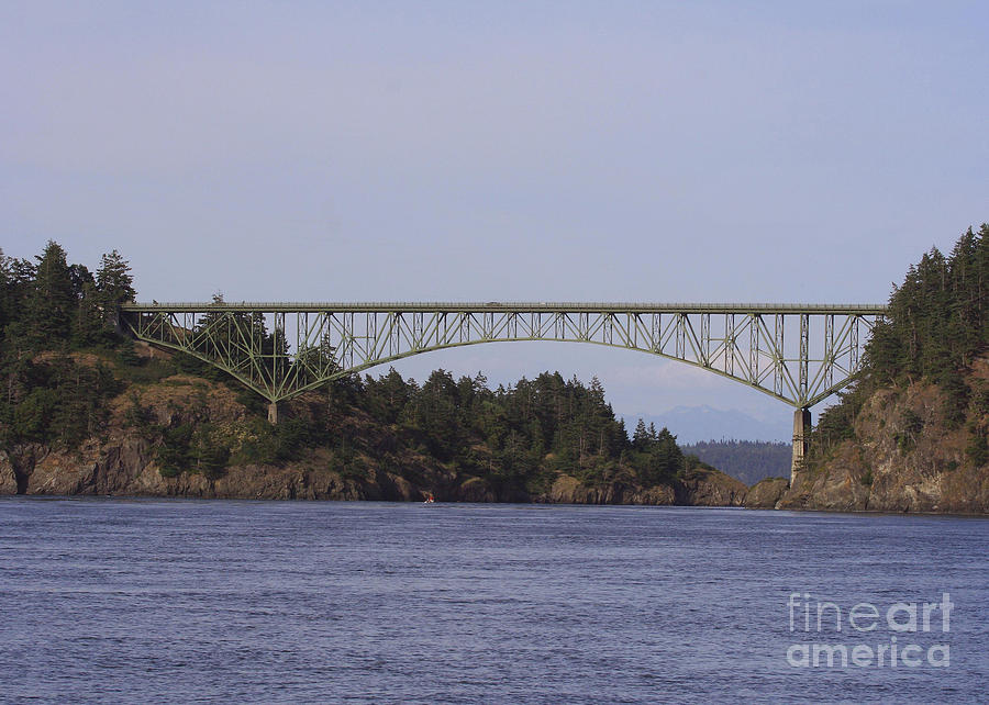 Deception Pass Bridge Photograph - Deception Pass Bridge by Mary Gaines