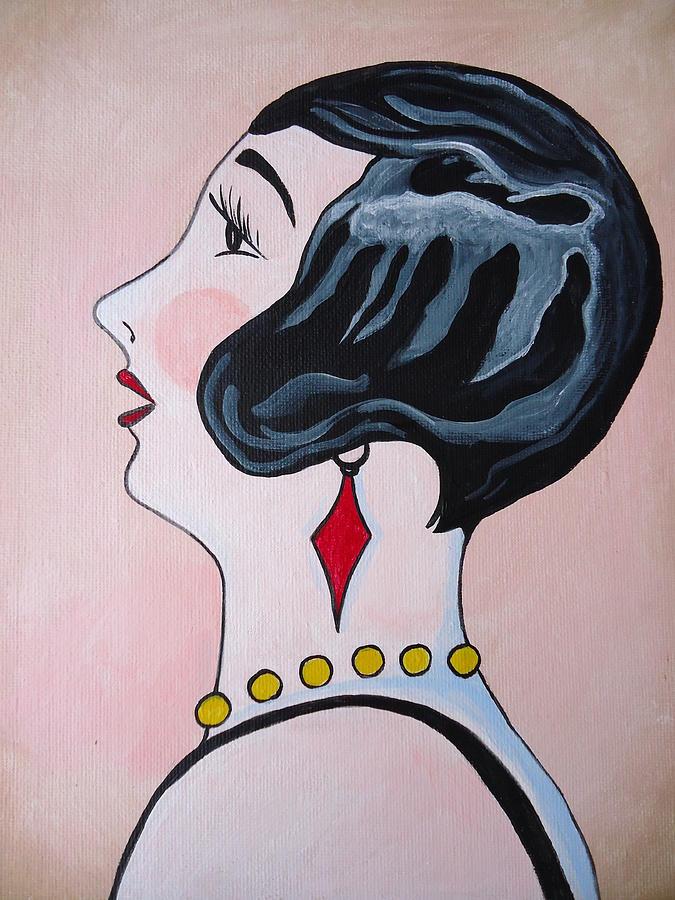 Art Deco Painting - Deco Diva by Leslie Manley