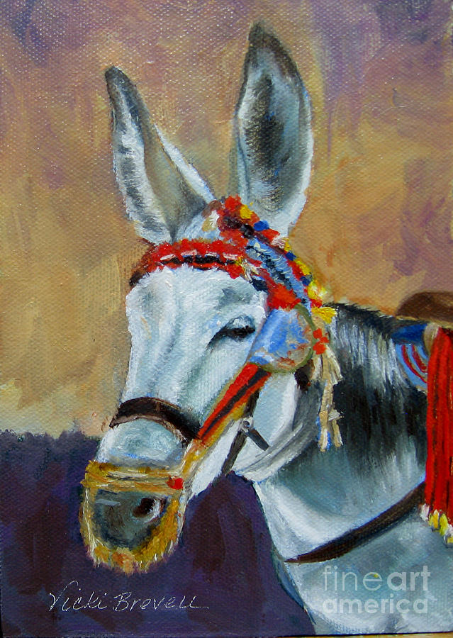 Decorated Donkey by Vicki Brevell