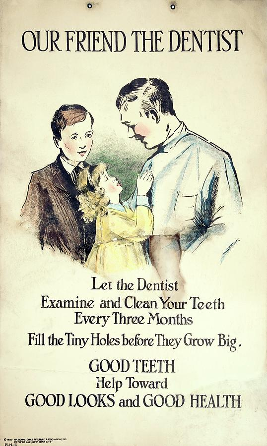 Historical Photograph - Dental Health Education Poster by British Dental Association Museum/science Photo Library