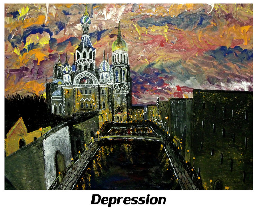Russian Painting - Depression  by Mark Moore