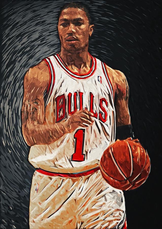Derrick Rose Digital Art - Derrick Rose by Taylan Apukovska