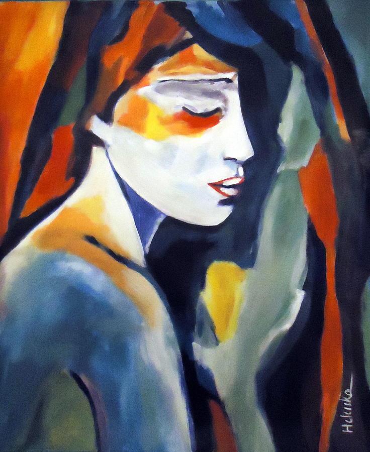 Nude Figures Painting - Devotional Journey by Helena Wierzbicki