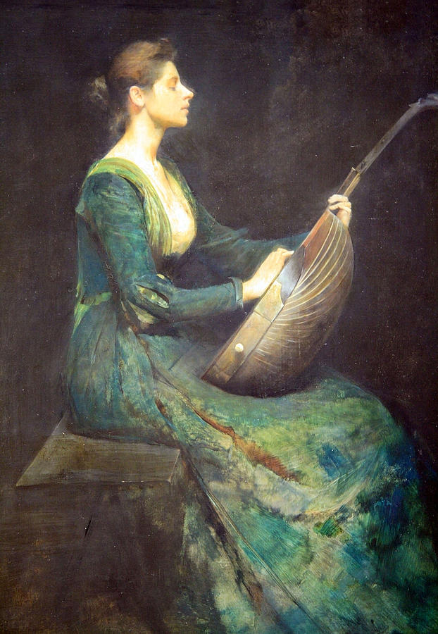 Painting Photograph - Dewings Lady With A Lute by Cora Wandel
