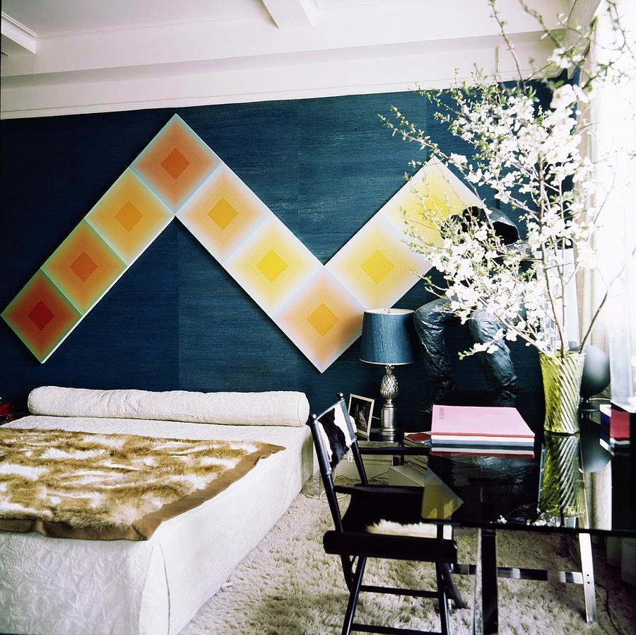Diane Von Furstenbergs Bedroom Photograph by Horst P. Horst