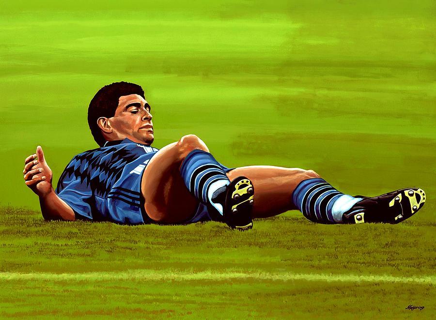 Diego Maradona Painting - Diego Maradona 2 by Paul Meijering