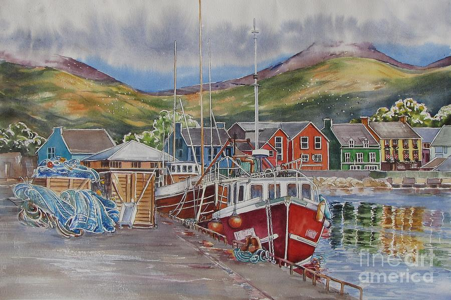 Dingle Painting - Dingle-harbour-ii by Nancy Newman