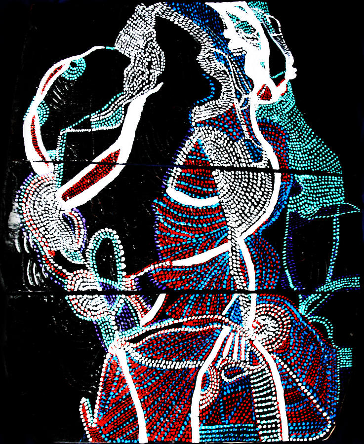Jesus Painting - Dinka by Gloria Ssali
