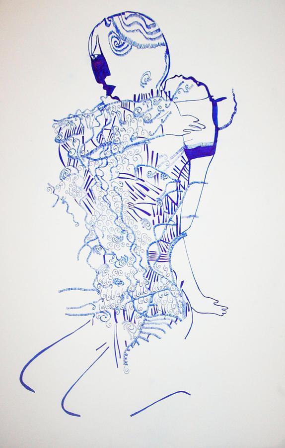 Jesus Drawing - Dinka Motherhood - South Sudan by Gloria Ssali