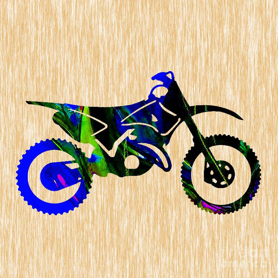 Dirt Bike Art Mixed Media by Marvin Blaine