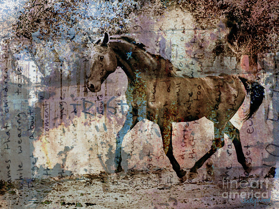 Horse Digital Art - Dissolution by Judy Wood