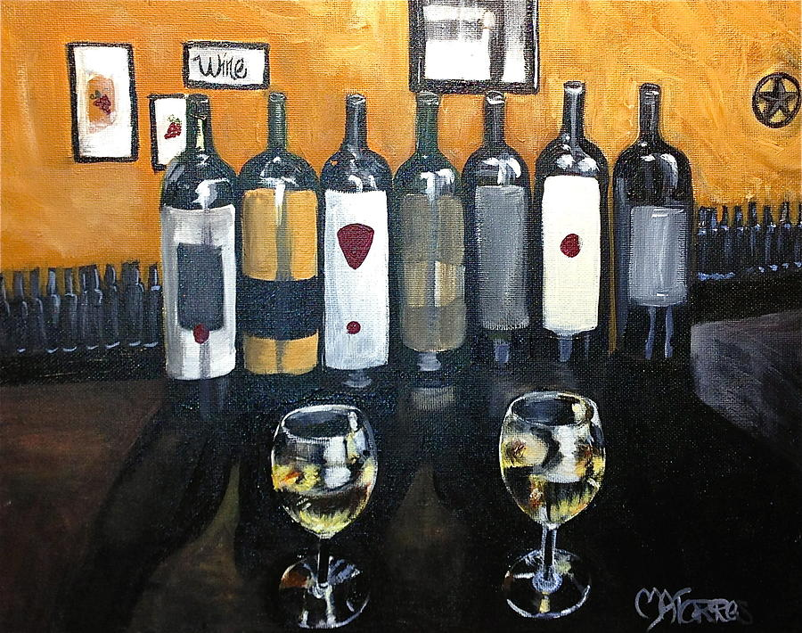 Wine Painting - Divine Wine by Melissa Torres