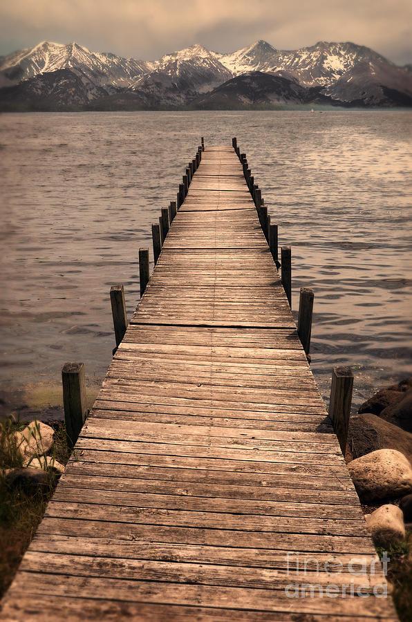 Dock Photograph - Dock On Mountain Lake by Jill Battaglia